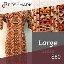 BNWT Lularoe Julia Large Aztec Tribal Looking Size This Beautiful Dress