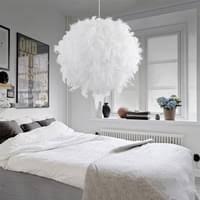 federn deckenle pendelleuchte schirm le lichter hängeleuchte feder le moderne weiß lichter hängeleuchte schlafzimmer ess zimmer decken