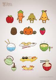 600x857 CuteKawaii Food Illustration Set By Michele Liza Pelayre Via