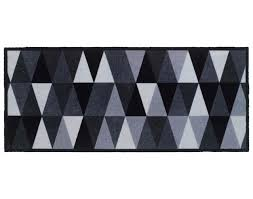 teppich universal ca 67 x 150 cm geometric silber