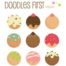 Coffee And Donuts Cute Digital Clipart For Commercial Or Personal Use Donut Graphics