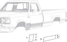 Steel Body Patch Panels | 1972-80 Dodge Truck 1974-80 Dodge ...