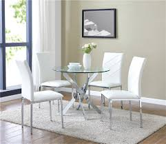 Details About Clear Glass Round Dining Set With 4 Chairs Choose From White  Black & Grey Chairs Cm3556 Round Top Solid Wood With Mirror Ding Table Set Espresso Homy Living Merced Natural Wood Finish 5 Piece East West Fniture Antique Pedestal Plainville Microfiber Seat Chairs Charrell Homey Design Hd8089 5pc Brnan Single Barzini And Black Leatherette Chair Coaster 105061 Circular Room At Hotel Hershey Herbaugesacorg Brera Round Ding Table Nottingham Rustic Solid Paula Deen Home W 4 Splat Back Modern And Cozy Elegant Sets