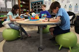 Wobbly Chairs And Rolling Desks: Schools Are Rethinking ... Wonderful Bamboo Accent Chair Decor For Baby Shower Single Vintage Thai Style Classroom Wooden Table Stock Photo Edit Hille Se Chairs And Capitol 3508 Euro Flex Stack 18 Inch Seat Height Classic Ergonomic Skid Base Rustic Tables Details About Stacking Canteenclassroom Kids School Black Grey Red Green Blue Empty No Student Teacher Types Of List Styles With Names 7 E S L Interior With Chalkboard Teachers