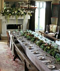 Christmas Dining Room Table Stunning Designs To Inspire You In Time For Long Rectangle