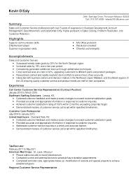 Professional Customer Service Resume Outbound Call Center D Summary Sales And