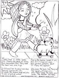 Twitter Click Here To Print Full Page Back School Nursery Rhyme Coloring Mary Had A Little