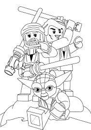 Printable Lego Free Star Wars Coloring Pages Angry Birds Yoda Clone Troopers Princess Leia