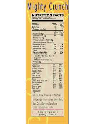 Cereal Box Nutrition Facts