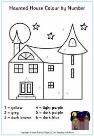 Pix For Simple Haunted House Coloring Page