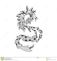 Royalty Free Vector Download Dragon Anti Stress Coloring Book For Adults