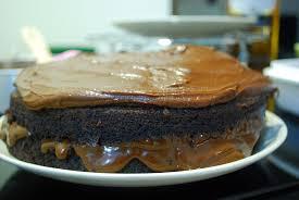Triple whiskey dark chocolate cake