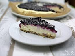 white chocolate cheesecake mit blaubeeren