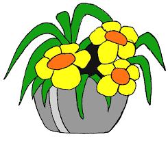 illustration gratuite pot en jaune fleur image