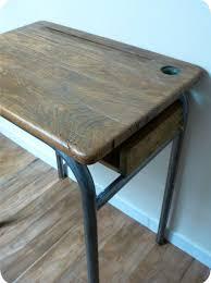 bureau d 馗olier ancien en bois 1 place chambre enfant bureau ecolier ancien ancien bureau ecolier