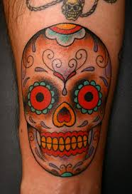 One More Cool Mexican Sugar Skull Tattoo Design Image