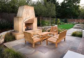 outdoor pizza oven fireplace Patio Contemporary with California
