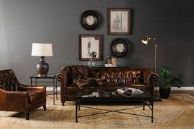 Bernhardt Foster Stationary Sofa by Bernhardt London Dark Brown Leather Club Sofa Mathis Brothers