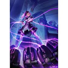 cuisine cryog駭ique overwatch sombra print signed by polidora overwatch