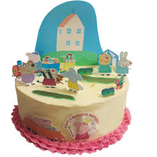 peppa pig cake decorations peppa pig edible wafer card cake topper