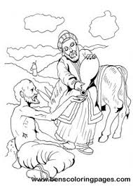 Good Samaritan Coloring Page Parable