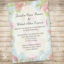 Blue And Pink Floral Bohemian Wedding Invitations IWI304