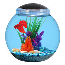 Star Wars Fish Tank Decorations by Aqua Culture 1 Gallon Globe Bowl With Led Light 7 25