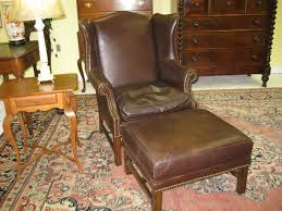 Leather Tufted Chair And Ottoman by Wingback Chair Tufted Chair With Ottoman Living Room Suites