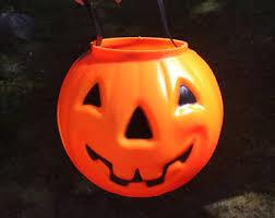 Vintage Halloween Blow Molds Craigslist by Halloween Pumpkin Pail Jack O Lantern Candy Bucket W Handle