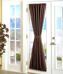 front door sidelight curtain rods panels side window curtains