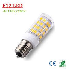 e12 e14 base 51 led light bulb l 2835smd 4w ac220v 110v ceramic