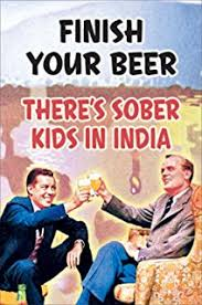 Poster Service 88390 Finish Your Beer Decorative