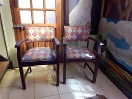 R 800 For Sale Two Dark Oak Dining Room Chairs