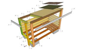 Ana White Firewood Shed by Firewood Shed Plans Bûcher Extérieur Pinterest Firewood