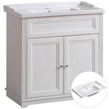 waschtischunterschrank 80cm retro keramik waschtisch im vintage landhausstil celaya 56 andersen pine weiß b x h x t ca 80 x 79 x 45cm