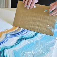 Dra Your Card Board Across Paint To Make Pattern
