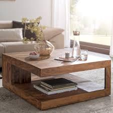 finebuy couchtisch patan 90 x 90 cm mit ablage holz massiv design wohnzimmertisch massivholz wohnzimmer tisch quadratisch