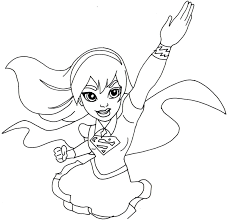 Supergirl Coloring Pages Free Printable Super Hero High