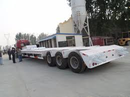 100 Tri Axle Truck China 60t Lowbed Semi Trailer Low Bed Trailer China