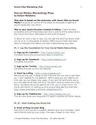 Social Media Marketing Plan Template Small Business Digital 9 Example Large Size Of Internet Free Sample