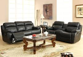 double reclining sofa center drop down cup holders black leather