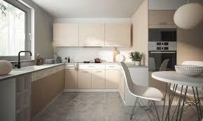 küchenzeile ferrum 230x260x200cm perlweiß weiß acryl hochglanz sherwood eiche hell