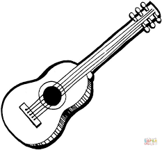 Click The Acoustic Guitar Coloring Pages To View Printable