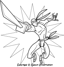 Ninja Coloring Pages For Kids Boys