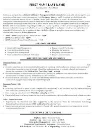 Project Management Resume Objective Luxury Pics Example
