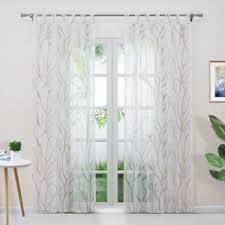 details zu gardinen mit schlaufen kräuselband ösen vorhänge modern transparent wohnzimmer