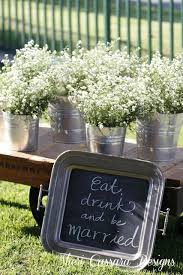 Rustic Wedding Decor Ideas Babys Breath In Tin Cans