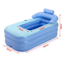 Portable Bathtub For Adults by Blowup Spa Pvc Folding Portable Bathtub Warm Inflatable Bath
