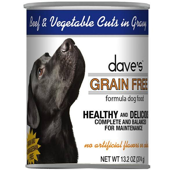 Beef & Vegetable Cuts in Gravy Grain-Free Wet Canned Adult Dog Food