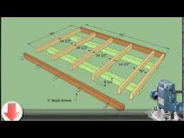 Floor Joist Span Table For Sheds by How To Plan For Building A 10x12 Shed Youtube
